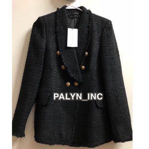 Zara Jackets & Coats - ❤️ZARA BLACK TWEED BLAZER WITH BUTTONS